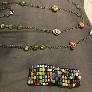 Jewelry - Beaded necklace and bracelet combo
